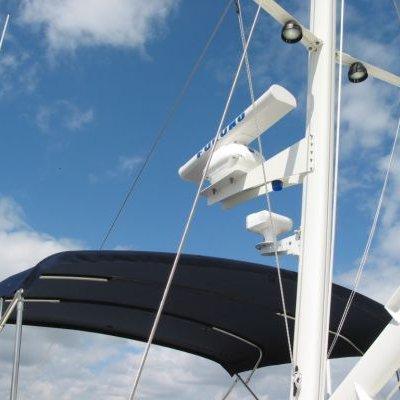 Custom Mast Mounted Radar and Spotlight